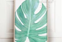 Tropical Decor / Palm prints, tropical prints, tropical art, nature prints, palm trees, pineapple art, pineapple prints