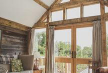 Glazing for oak timber frames / Our glazing compliments our timber frames. Be it a light filled glazed gable end or dramatic large spans of glazing there are many options for putting glazing into your timber frame