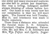 Sunday's Obituary / A series of posts written for the Geneablogger's writing prompt.