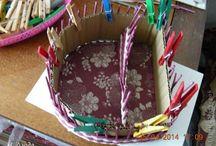 Pleteni z papiru / Výrobky z papírových ruliček