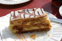 Østerrikske kaker / Østerrikske kaker spist på konditorier rundt i hele Østerrike. Cakes eaten all around Austria.