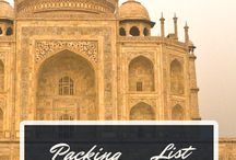 India: things to do/things I need