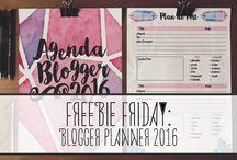 Blog Freebies / Blog freebies like planners, icons, banners, etc
