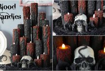 Blood candles halloween