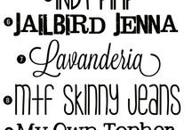 Fonts  / by Diane Nickelson