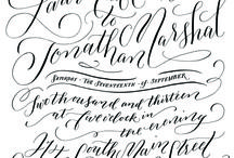 calligraphy and pretty type