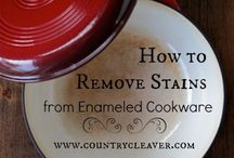 Cleaning tips / Enamel cookware