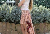 Gypsy skirts / Gypsy skirts, 100% silk, made in India