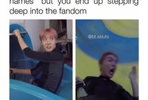 BTS being memes