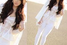 Cream & White Style / Look even more gorg by adding cream and white to your wardrobe. It instantly brightens your look!