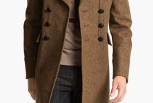 Trench Coat / Burberry Brit Wool Blend Trench Coat