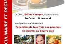 Marché au gras de Samatan /  Dans le cadre d'un partenariat avec le marché au gras et l'office de Tourisme  de Samatan, les Tables du Gers ont organisé 4 ateliers culinaires autour du canard suivis d'une dégustation.