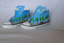 Sneakers / I love sneakers.. you know why? They're made of canvas! You can paint anything you like on them, and customize your own shoes!