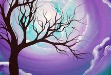 Strom maľba