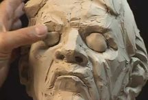 Sculpting a bust - movie