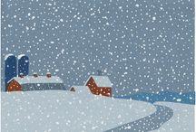 winter art / by Sarah Barnum