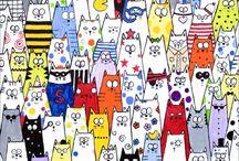 elementary art - cats