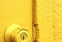jaune déco murale