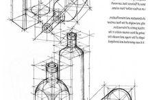 Drawing: geometry / Geometric based drawings
