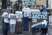 #LiberenALos30 acciones en el mundo. / Miembros de Greenpeace y voluntarios de todo el mundo muestran su apoyo por los activistas detenidos en Rusia. ¡Apóyalos tu también!