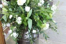 The Tythe Barn Milk Churns / Great for our gorgeous floral displays!