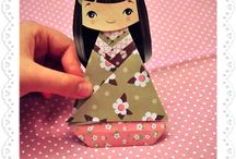 Asian dolls / Papusi asiatice handmade