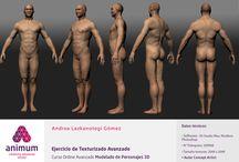 Humano realista Texturizado / Ejercicio de Texturizado