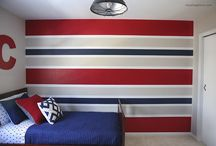 Striped will and furniture