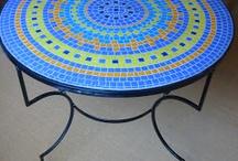 Mesa mosaico pastilhas