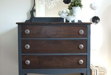 Pine chest of draws makeover