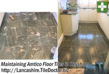 Vinyl Floor Tile Cleaning