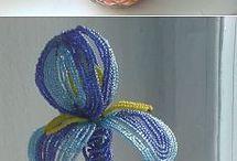 beading flowers- boncuk çiçekler