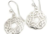 SCOTTISH STERLING SILVER JEWELRY / Scottish Sterling Silver Jewelry with traditional Celtic Jewelry designs like the Scottish Thistle, Celtic Knot, Trinity Knot and the Luckenbooth, includes Pendant Necklaces, Earrings and Brooches made in Scotland by Ortak and Shetland Jewelry.