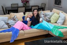 Adult Mermaid Tail Blankets by Blankie Tails / available on www.blankietails.com