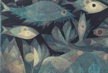 "Illustrazioni in blu / Dipinti, illustrazioni ""nel blu dipinto di blu..."""
