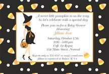 Halloween Baby Shower Ideas / Halloween Baby Shower Inspiration board for all your party needs.  Invites, food, decor, favors, etc.
