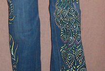 Pantalones pintados