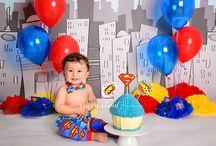 superman cake smash theme inspiration