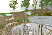 Project St John's Close West Sussex / CONTEMPORARY URBAN GARDEN TERRACE  Aralia designed a contemporary garden terrace that would enhance this interior, evoking a modern garden style with geometric lines and clean palettes.  Aralia were working as Landscape Architects working within a multi-disciplinary consultant team and a range of sub-contractors. Aralia were responsible for concept creation through to design detail. https://www.aralia.org.uk/portfolio/st-jons-close/