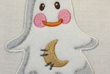Machine Embroidery Applique ghost / http://www.spookiestreasures.com/products/applique-little-ghost-4x4