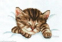 Cross stitch / Cat Cross stitch & other cross stitch / by Nyla Anderson
