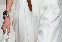 Trussardi Spring 2015 RTW / White tunic blouse & pants