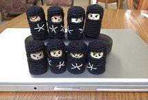 Cork and crochet/knit