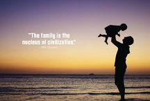 Själsliga talesätt om/för familjen