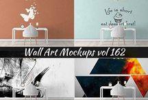 Wall Sticker Mockup