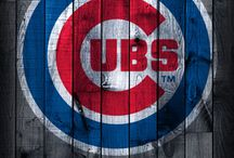 """CHICAGO CUBS! / """"Take me out to the ball game, Take me out with the crowd. Buy me some peanuts and cracker jack, I don't care if I never get back, Let me root, root, root for the home team, If they don't win it's a shame. For it's one, two, three strikes, you're out, At the old ball game."""" / by Diane Marecki Casteel"""