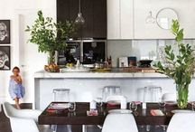 Interior design elements and colour/textures for flat