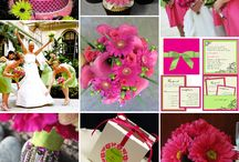 Fuchsia and Lime Colour Combo / Wedding inspiration and ideas featuring hot fuchsia pink and lime green.