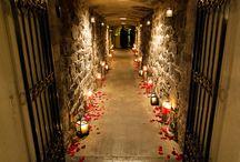 wedding in cellar