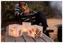 DIY crafts: Wax paper Luminaries